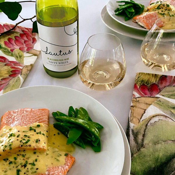 BAKED TROUT WITH WHITE WINE HOLLANDAISE SAUCE